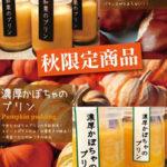 秋限定の『和栗のプリン』『濃厚かぼちゃのプリン』発売中!